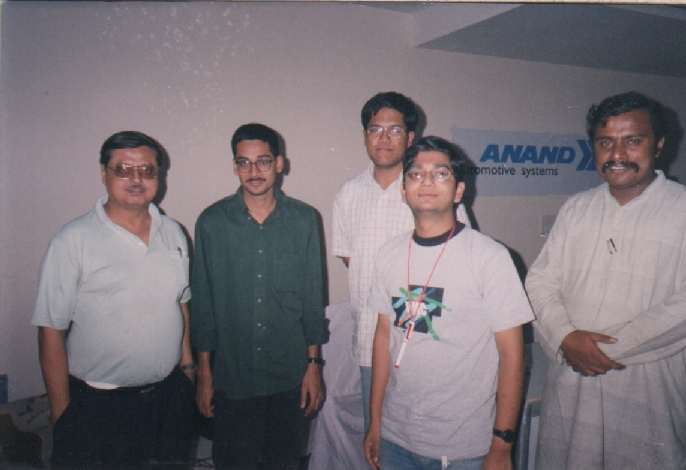 Gautam Ghosh on the left, Anil in the middle and Arul on the right. I do not remember who the others are.
